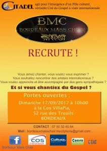 Bordeaux Gospel Affiche-inscriptions