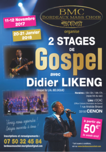 Stage de Gospel Gospel Bordeaux