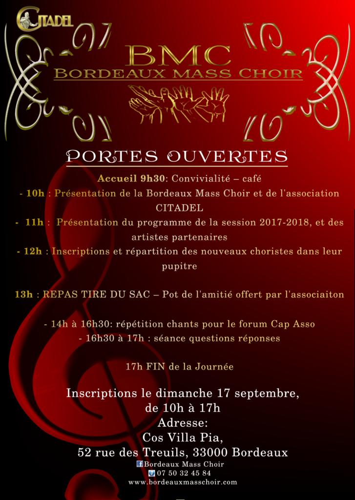 Bordeaux mass choir recrute pour du gospel à bordeaux
