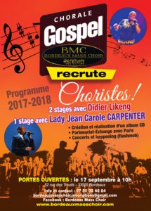 BMC recrute ! Bordeaux Gospel