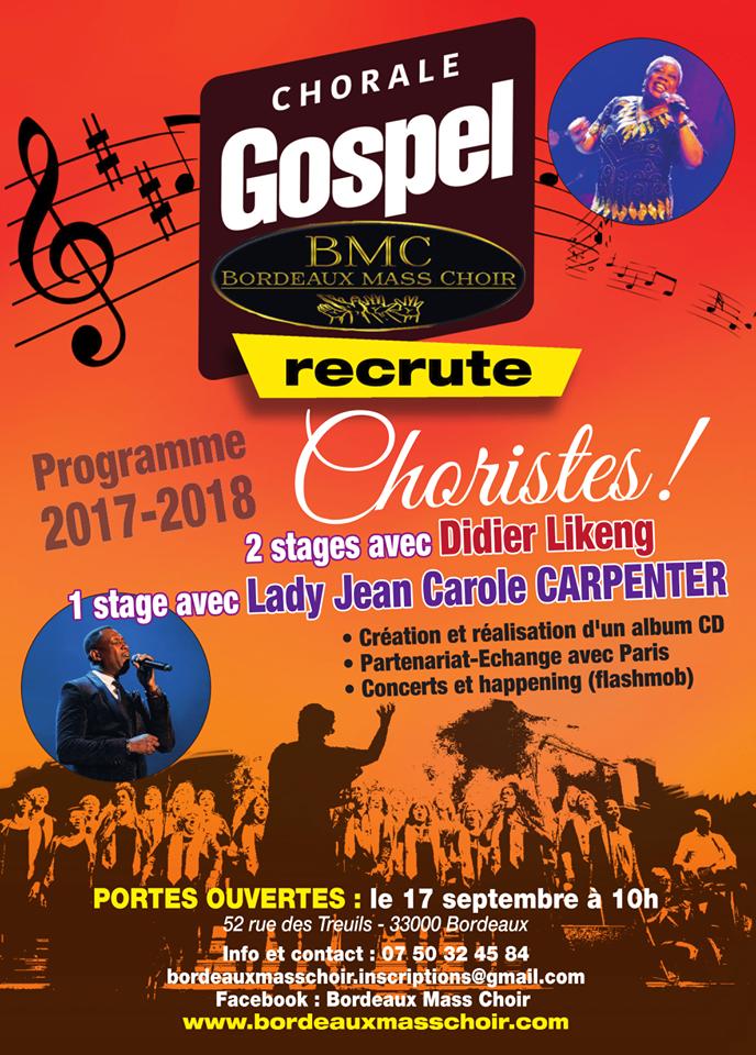 BMC recrute ! Bordeaux Gospel